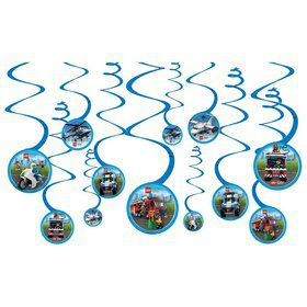 Lego City Hanging Spiral Decorations