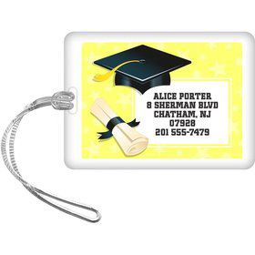 Lemon Yellow Grad Personalized Luggage Tag (Each)
