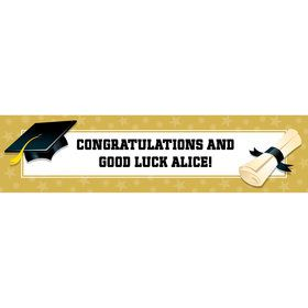 Gold Grad Personalized Banner