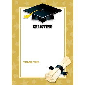 Gold Grad Personalized Thank You