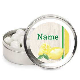 Lemonade Days Personalized Mint Tins (12 Pack)