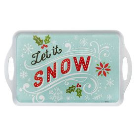Let it Snow Rectangle Melamine Tray