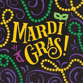 Let the Good Times Roll Mardi Gras Beverage Napkins (125)