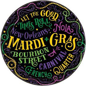 Let the Good Times Roll Mardi Gras Dessert Plates (60)