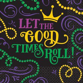 Let the Good Times Roll Mardi Gras Lunch Napkins (125)