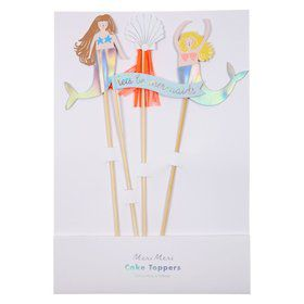 Let's Be Mermaids Cake Toppers (4)
