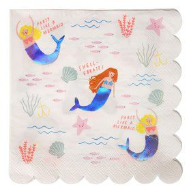 Let's Be Mermaids Lunch Napkins (16)