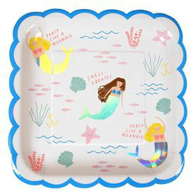 Let's Be Mermaids Lunch Plates (8)