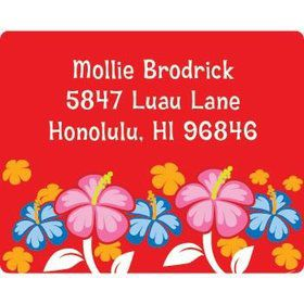 Let's Luau Personalized Address Labels (sheet of 15)