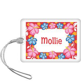 Let's Luau Personalized Bag Tag (each)