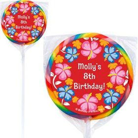 Let's Luau Personalized Lollipops (pack of 12)
