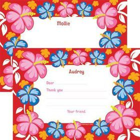 Let's Luau Personalized Thank You Note
