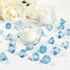 Light Blue Diamond Table Scatter