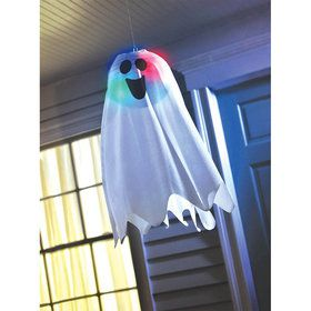 Light Up Ghost Fabric Hanging Decoration