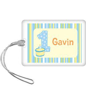 Lil' Boy 1st Birthday Personalized Bag Tag (each)