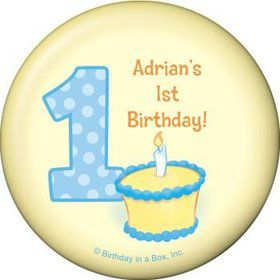 Lil' Boy 1st Birthday Personalized Magnet (each)