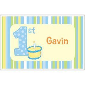 Lil' Boy 1st Birthday Personalized Placemat (each)
