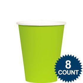 Lime 9 oz. Paper Cup, 8ct.