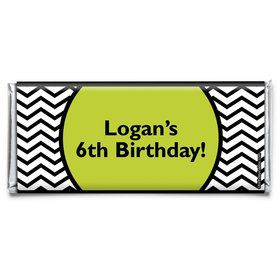 Lime Chevron Personalized Candy Bar Wrapper (Each)