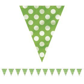 Lime Dots 12' Flag Banner Decoration (Each)