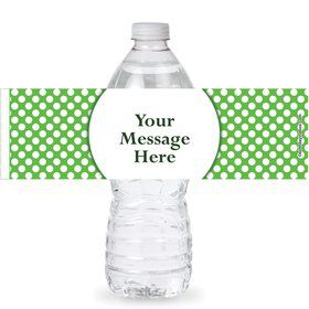 Lime Dots Personalized Bottle Labels (Sheet of 4)
