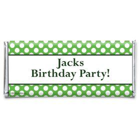 Lime Dots Personalized Candy Bar Wrapper (Each)