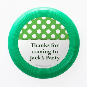 Lime Dots Personalized Mini Discs (Set Of 12)