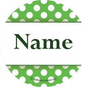 Lime Dots Personalized Mini Stickers (Sheet of 24)