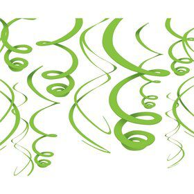 "Lime Green Plastic 22"" Hanging Decorations"