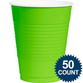 Lime Plastic 16 oz. Cup, 50 ct.