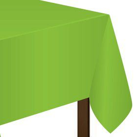 """Lime Plastic Tablecover, 54""""-108"""""""