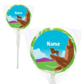"Lion Kingdom Personalized 2"" Lollipops (20 Pack)"