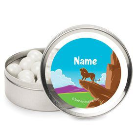 Lion Kingdom Personalized Candy Tins (12 Pack)