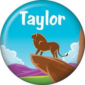 Lion Kingdom Personalized Mini Button (each)