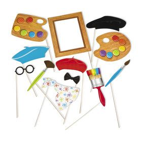 Little Artist Photo Stick Props (12)