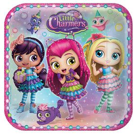 "Little Charmers 9"" Lunch Plate (8 Count)"
