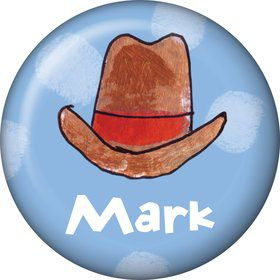 Little Cowboy Party Personalized Mini Magnet (Each)