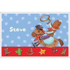 Little Cowboy Party Personalized Placemat (each)