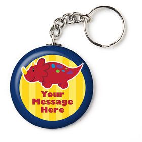 "Little Dino Personalized 2.25"" Key Chain (Each)"