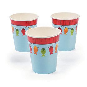 Little Fisherman 9oz Paper Cups (8)
