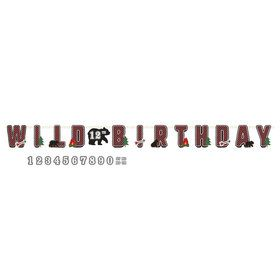 Little Lumberjack Birthday Add an Age Jumbo Letter Banner