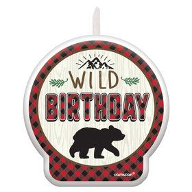 Little Lumberjack Birthday Candle