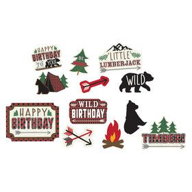 Little Lumberjack Birthday Cutout Decorations