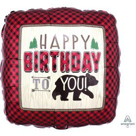 Little Lumberjack Birthday Foil Balloon