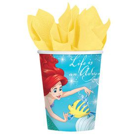 Little Mermaid 9oz Cups (8 Count)