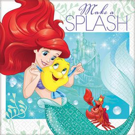 Little Mermaid Beverage Napkins (16 Count)