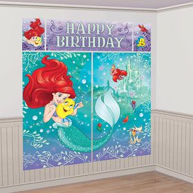 Little Mermaid Scene Setter Wall Decorating Kit (Each)