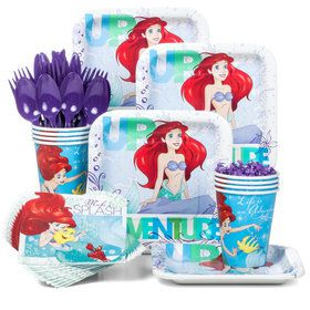 Little Mermaid Standard Birthday Party Tableware Kit (Serves 8)