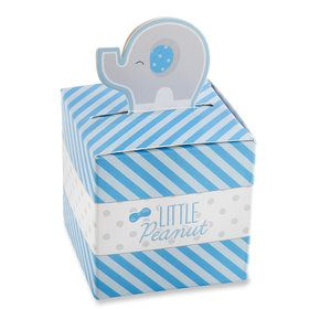 Little Peanut Elephant Favor Box - Blue (Set of 24)