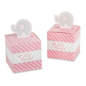 Little Peanut Elephant Favor Box - Pink (Set of 24)